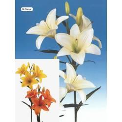Lilium artificial con 3 flores