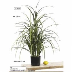 Maceta hierba artificial miscanthus