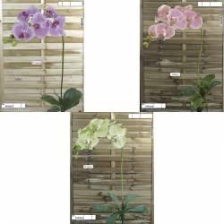 Orquidea phalaenopsis artificial con hojas