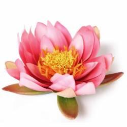 Flor lotus flotante artificial grande