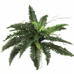 Planta helecho artificial con brotes