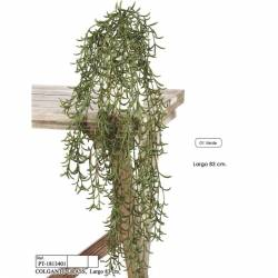 Planta colgante hierba artificial sin maceta