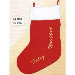 Bota Papa Noel gran Feliz Navidad
