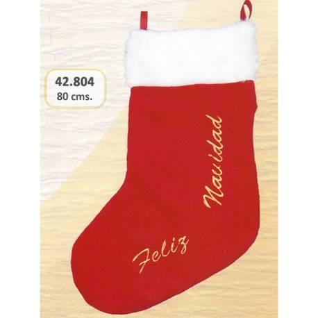 Bota Papa Noel grande Feliz Navidad