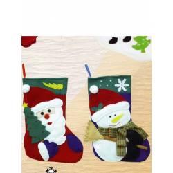 Bota Navidad para colgar decorada