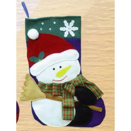 Bota de Nadal per a penjar decorada