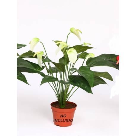 Planta anthurium artificial pequeña sin maceta