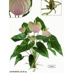 Anthurium artificial sin maceta
