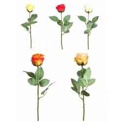 Rosa artificial tallo corto