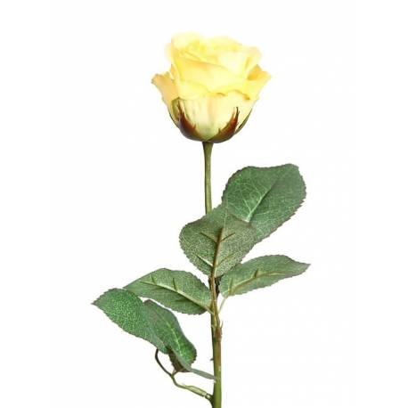 Rosa artificial tija curta