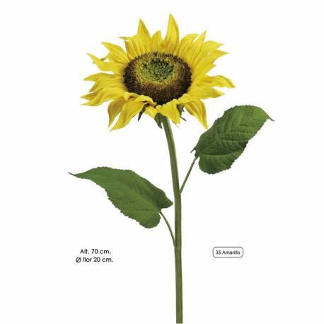 Flor artificial gira-sol gran