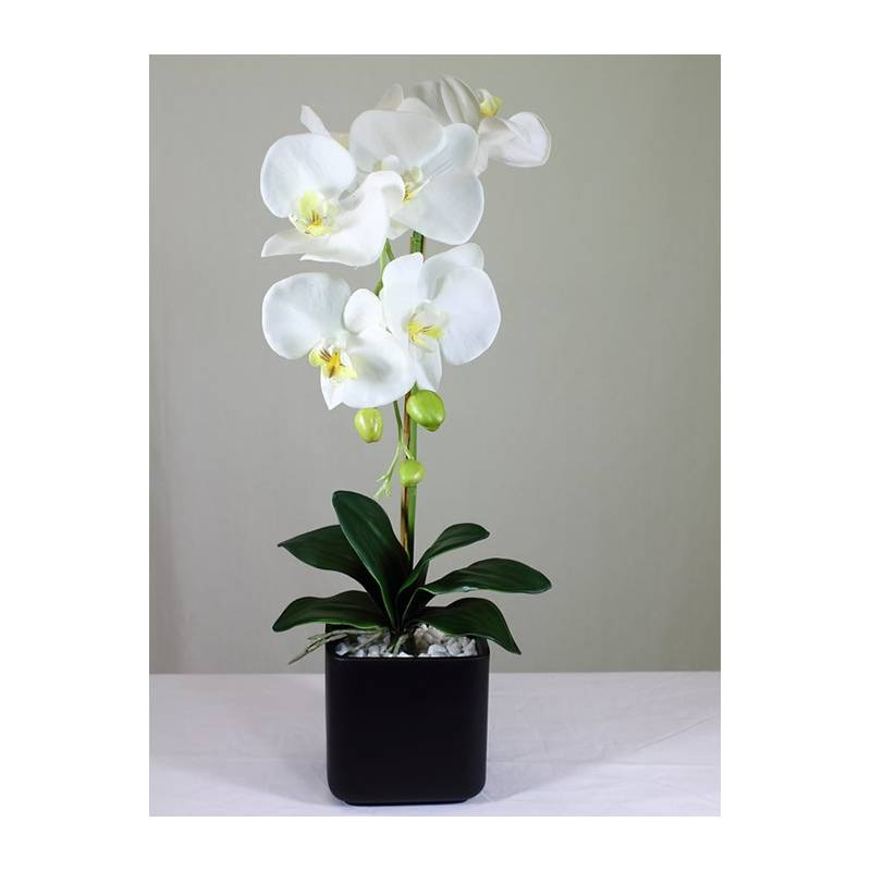 Venta online orquidea phalaenopsis artificial en maceta for Orquideas artificiales
