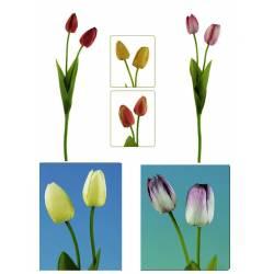 Tulipan artificial dos flores
