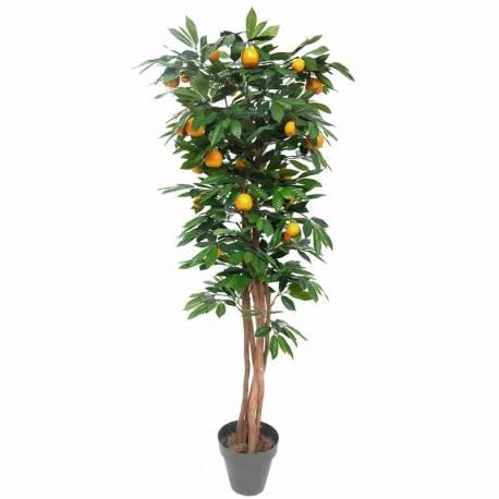 Arbol naranjo artificial con naranjas de plastico