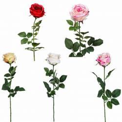 Flor artificial rosa economica