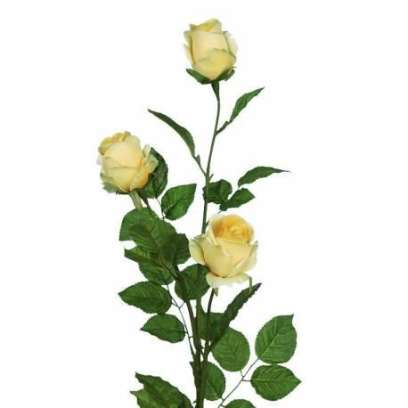 Branca tres roses artificials