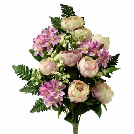 Ram cementeri flors artificials peonies