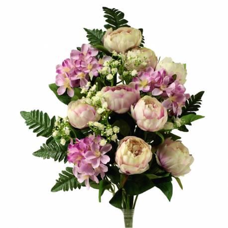 Ramo cementerio flores artificiales peonias