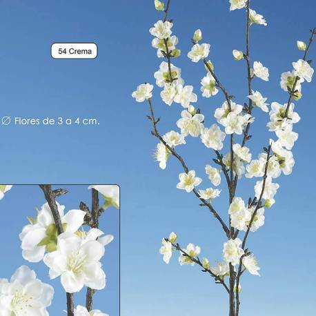 Rama almendro artificial con flor 112