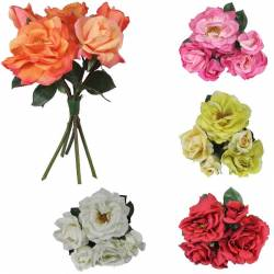 Bouquet rosas artificiales latex