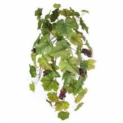 Planta artificial que penja parra amb raïm