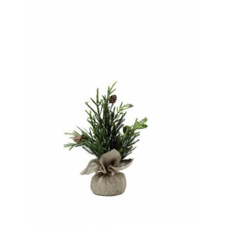 Arbol de navidad artificial peque o en saco oasis decor - Arbol artificial de navidad ...