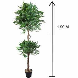 Arbre ficus artificial topiary 2 boles 190