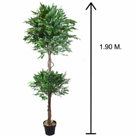 Arbol ficus artificial topiary 2 bolas 190