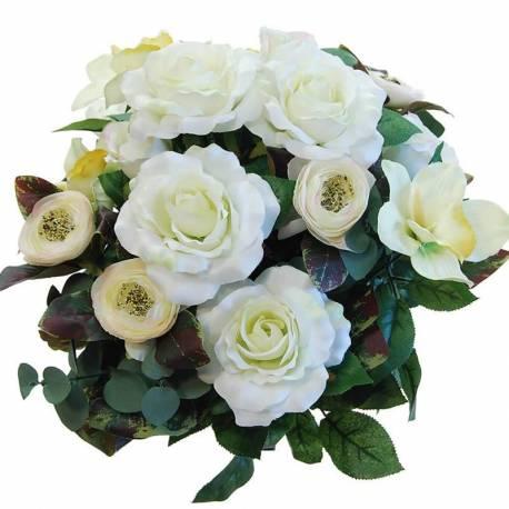 Ram flors artificials roses i cymbidium