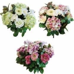 Ramo flores artificiales ranunculus y hortensias