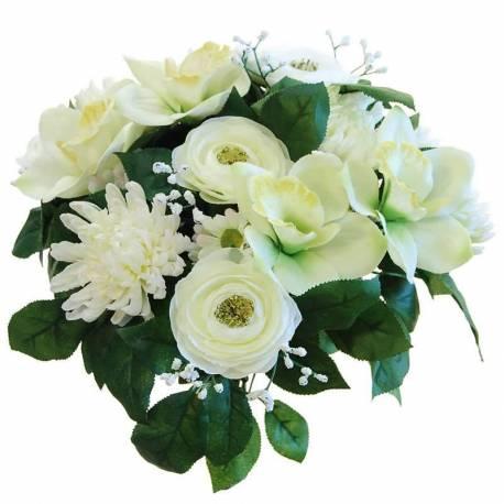 Ramo flores artificiales cymbidium y mum
