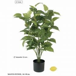 Planta pothos artificial con maceta 080