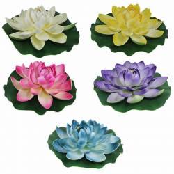 Flor lotus artificial flotante gigante