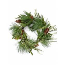 Corona de navidad grande con pino artificial