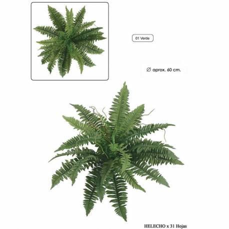 Planta helecho artificial sin maceta 060
