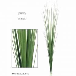 Branca herba artificial de plastic 085