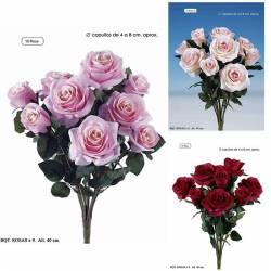 Ramo flores artificiales rosas