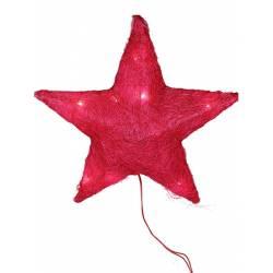 Estrela sisal roja gran amb llums led