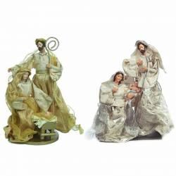 Figuras Navidad Nacimiento oro plata