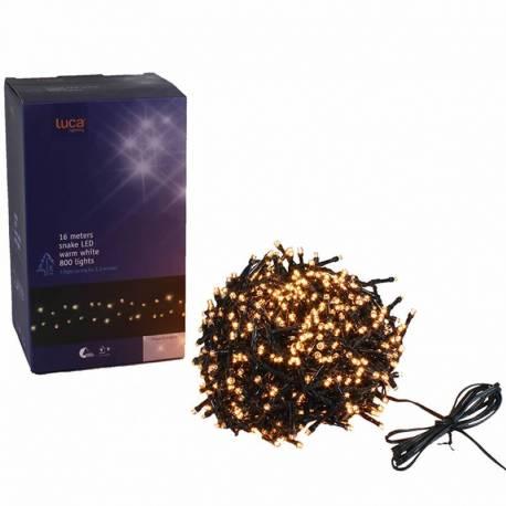 Guirnalda luces led fijas navidad 800 exterior o interior
