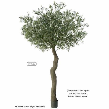 Olivo artificial gigante con aceitunas 310