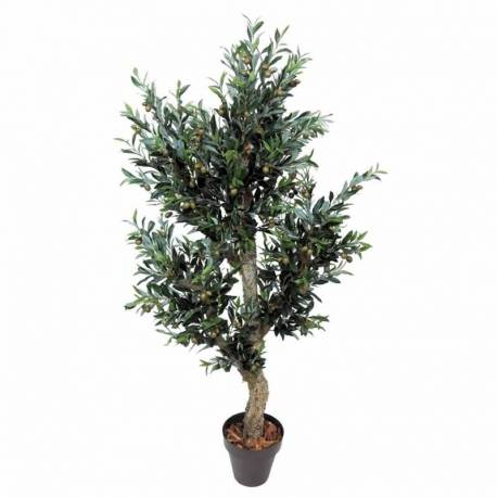 Olivera artificial amb olives verds 180