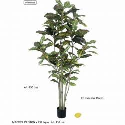 Arbol Croton artificial con maceta 150