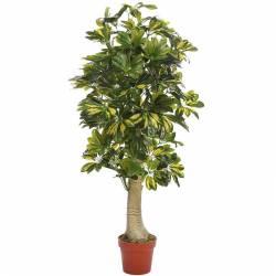 Planta artificial cheflera tronco con maceta