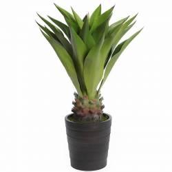 Planta artificial agave con maceta 080