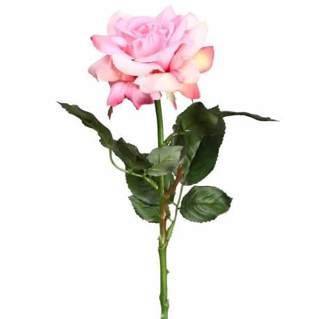 Flor rosa artificial blanca