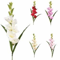 Branca flor gladiol artificial