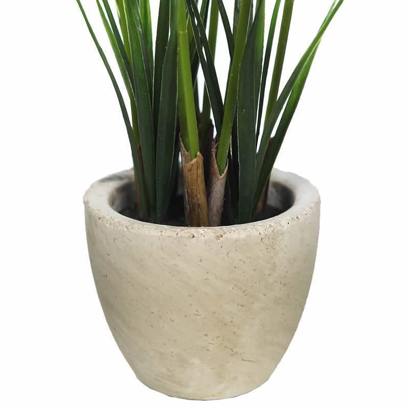 Planta papiro artificial en maceta de cemento oasis decor - Maceta de cemento ...