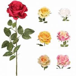 Flor rosa artificial economica