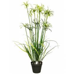 Planta papiro artificial con maceta 120